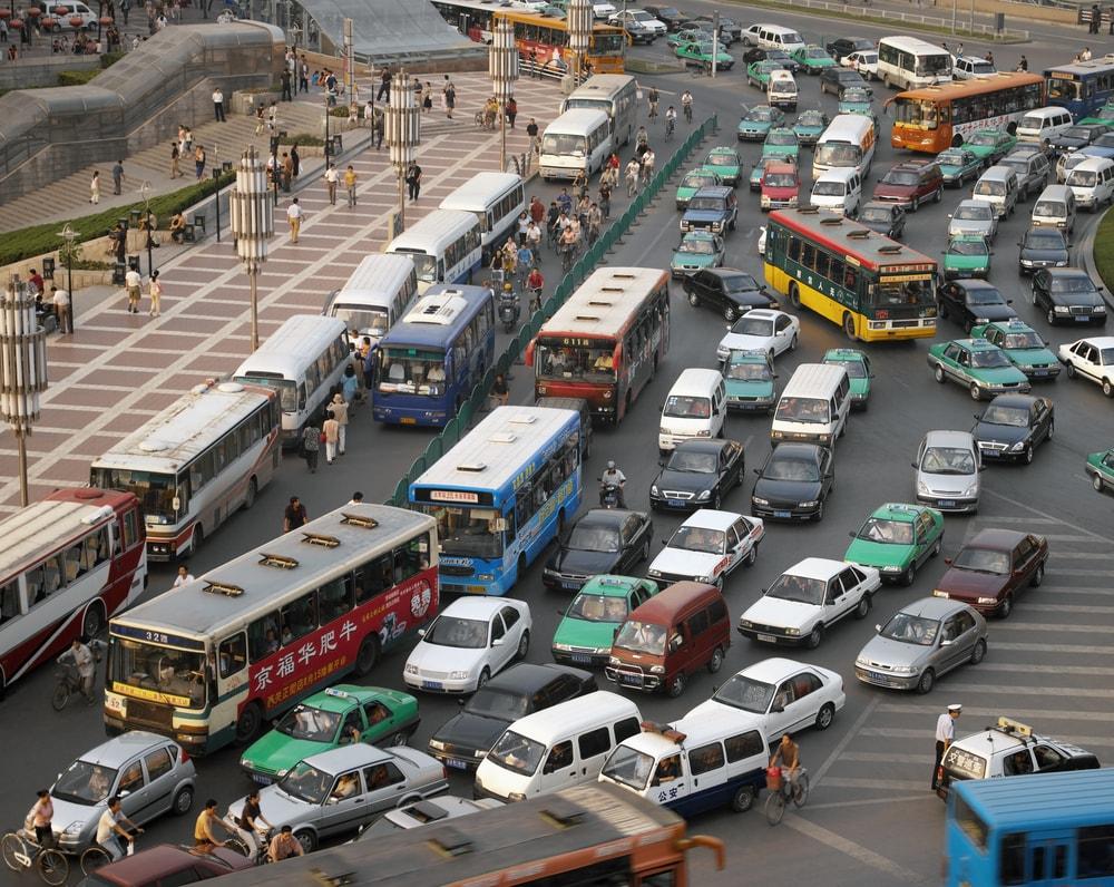 Traffic Xian Shaaxi Province China