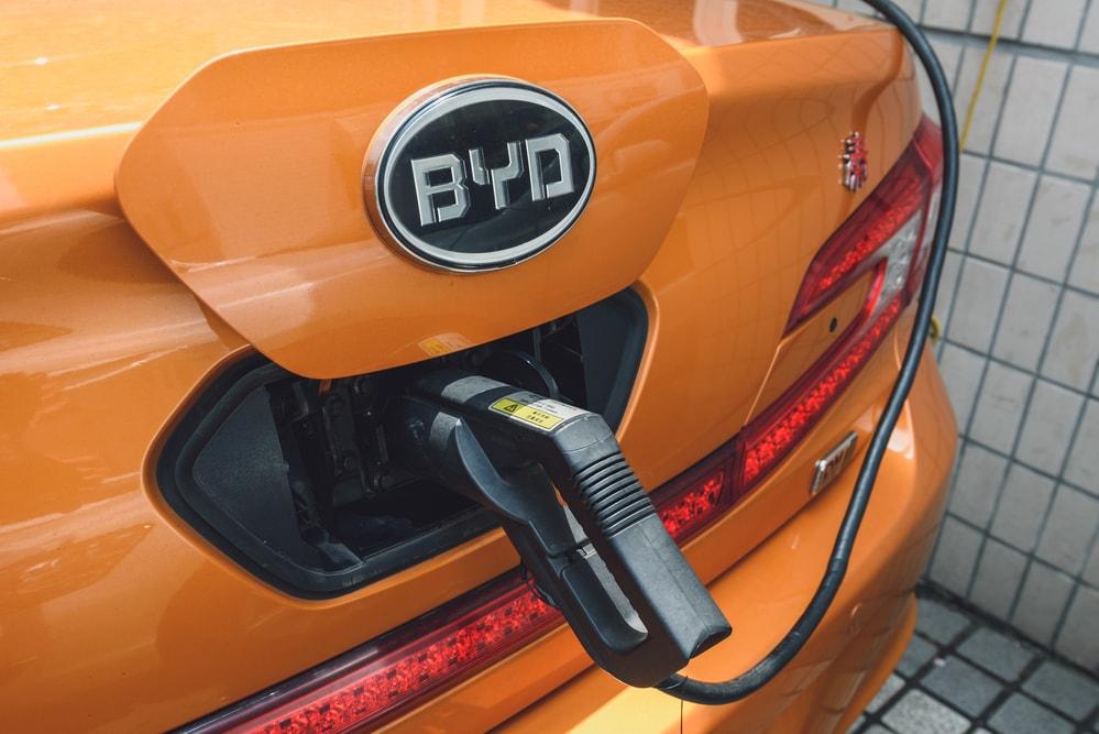 byd electric car shanghai china