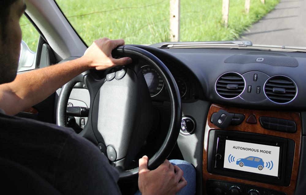 driver testing autonomous car