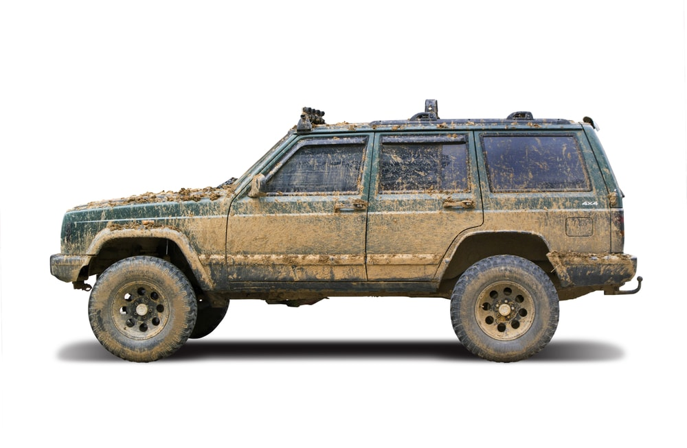 mud on a jeep gran cherokee