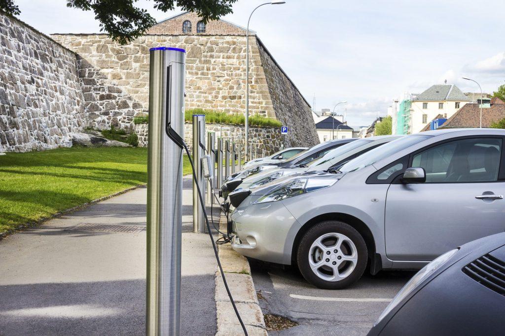 parking electric car