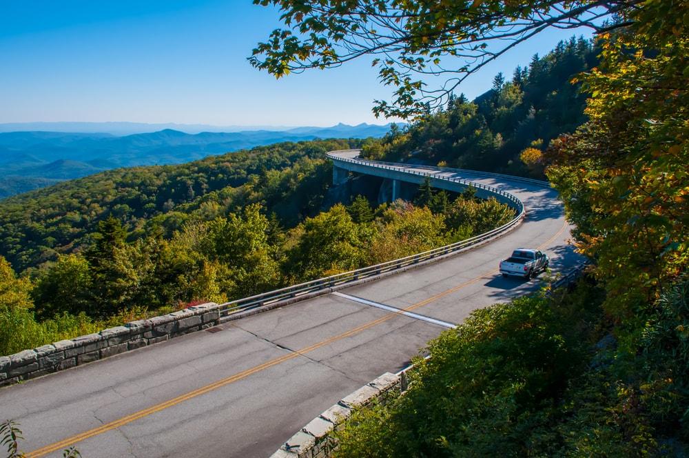 blue ridge parkway fall driving