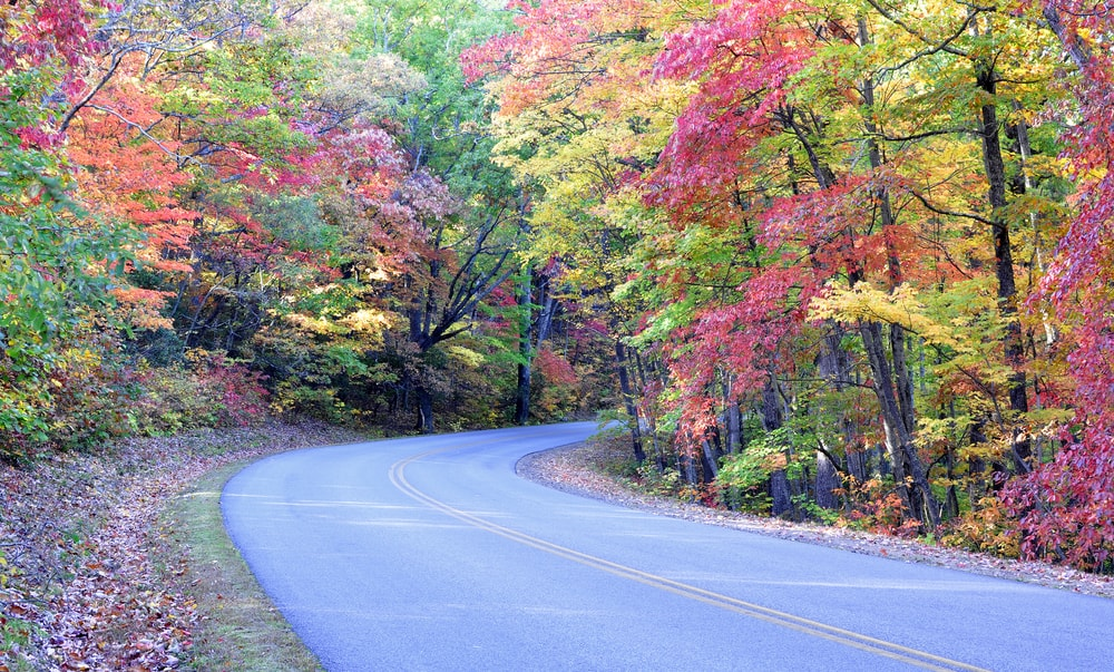 fall colors blue ridge parkway