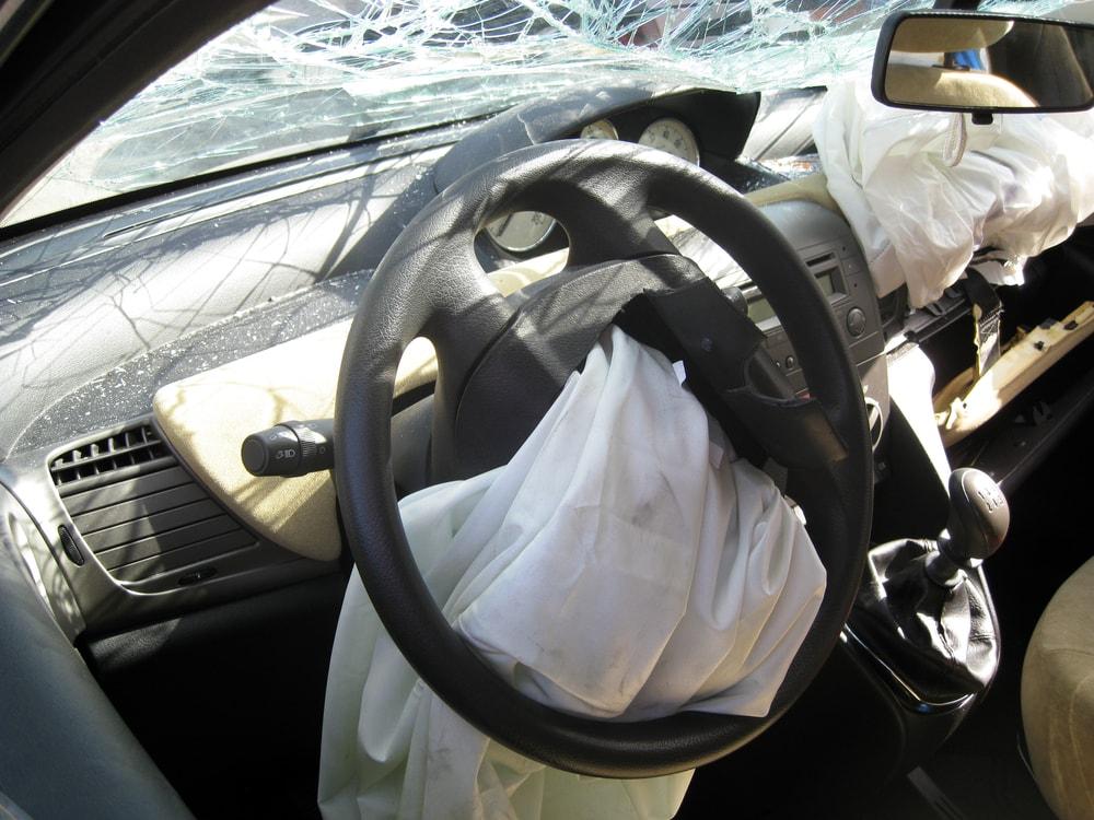 inside destroyed car